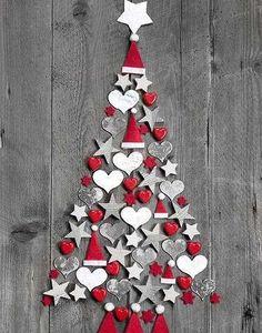Alberi di Natale fai da te - Albero di Natale country