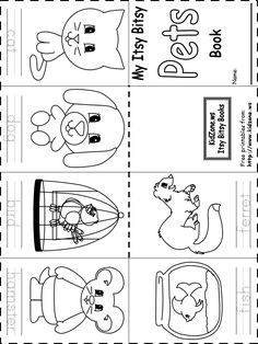 preschool pet theme worsheets - Google Search