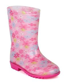 Jelly Beans Floral Fabric Lining Rain Boot