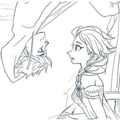 Elsa: Jack what are you doing? Jack: What I can't surprise my queen?