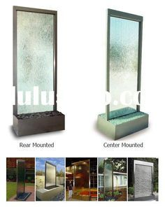 Glass Walls Wall Fountains And Glasses On Pinterest