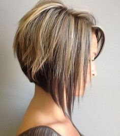21 Adorable Asymmetrical Bob Hairstyles for 2016: #2. Asymmetrical bob with choppy layers and highlights