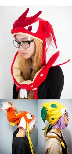 Pokemon Hats! #pokemon #hats #cosplay #kawaii #cute #anime #nintendo #merchandise