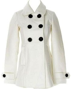 White Wool Peacoat!