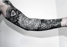 Floral Sleeves Tattoos