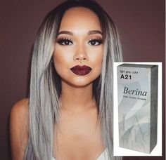 Would you dare to go GREY? Fashionistas embrace 'granny hair' trend Grey hair hairstyles - One user, known as angexla, uploaded this picture of grey hair and dark roots Grey Hair Dye, Grey Wig, Grey Hair Dark Skin, Black Hair, Granny Hair Trend, Pelo Color Gris, Blanco Color, Natural Hair Styles, Long Hair Styles