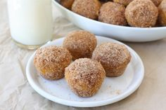 Easy Baked Pumpkin Donut Hole Recipe on twopeasandtheirpod.com We make these every fall!