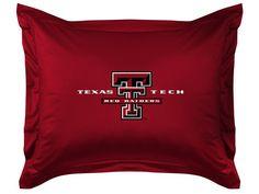 TEXAS TECH RED RAIDERS LOCKER ROOM SHAM TEXAS TECH U