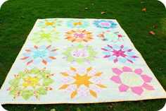 Another swoon quilt but I love the alternate colors to make one look like a star and another a flower.