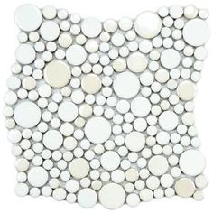 Merola Tile, Cosmo Bubble White 11-1/4 in. x 12 in. Porcelain Mosaic Wall Tile, FSHCBBWH at The Home Depot - Mobile