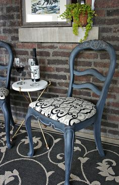 Whimsical Perspective: A Whimsical Makeover: The Twin Chairs