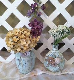 Wedding Centerpieces  Rustic Wedding by ElsiesCreativeDesign