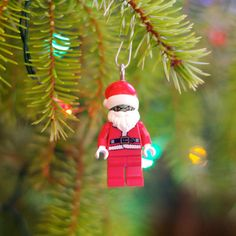 Zombie Santa LEGO ornament by boxhounds on Etsy, $10.00