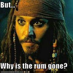 Captain Jack Sparrow. where's the rum?