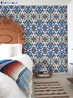 Batumi Turkish tile/wall decals   44 pcs by Bleucoin on Etsy