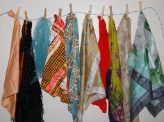 Vintage Scarf Lot Groovy to Gypsy by CheekyVintageCloset on Etsy, $28.00