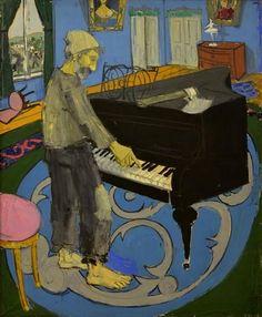 1907 - Constantin Piliuta Piano Y Violin, Georges Seurat, Paul Cezanne, Art Database, Vincent Van Gogh, Metropolitan Museum, Musical, Impressionist, Art Pictures