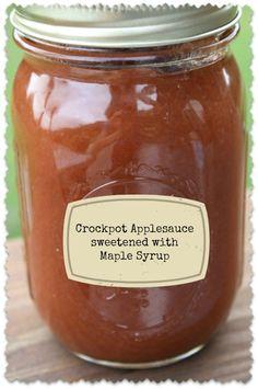 Crockpot Applesauce   Healthy Green Kitchen