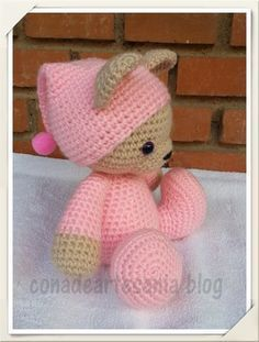 Irresistible Crochet a Doll Ideas. Radiant Crochet a Doll Ideas. Crochet Teddy, Crochet Amigurumi, Knit Or Crochet, Cute Crochet, Amigurumi Patterns, Amigurumi Doll, Crochet Crafts, Crochet Dolls, Yarn Crafts