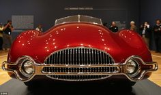 Vroom!: The front of the 1947 Norman Timbs 'Special' has a massive grill and a stylized bumper that adds to its unique look