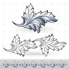 floral decorative element border and patterns vector - Recherche Google