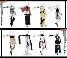 Naruto Adoptable Outfit Set 14 - Closed by Orangenbluete