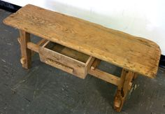 Rustic Wood Table / Bench with drawer . Reclaimed by JosephHuber, $225.00