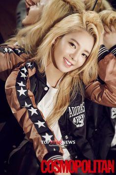 Girls' Generation 's Hyoyeon is Featured in Cosmopolitan Magazine Kpop Girl Groups, Korean Girl Groups, Kpop Girls, Kim Hyoyeon, Seohyun, Girls Generation Hyoyeon, Got7, Taehyung, Culture Pop