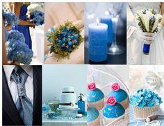 Blue themed wedding day