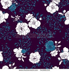 Roses,dd flower pattern on a bordeaux background. Vector.