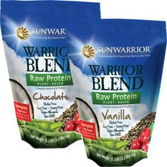 Sun Warrior is a completely raw protein powder that uses the highest quality plant-based protein available. They are currently seeking USDA organic certification and are non-GMO. It combines organic hemp, pea and cranberry protein (a fantastic combination!) and adds the metabolism boosting qualities of coconut's medium chain fatty acids.