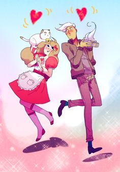 bee and puppycat<-- I find it amazing that there were only 2 of these little short-sodes and people can still make fanart this good!
