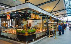 El mercado de comida Torvehallerne en Copenhague, la capital de Dinamarca.