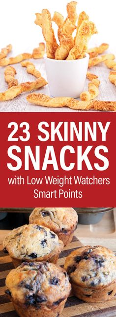 23 Skinny Snacks With Low Weight Watchers SmartPoints including Chicken Bites Cauliflower Poppers Zucchini Fries Cheese Fries Stuffed Mushrooms Cheese Twists Chicken Taquitos Deviled Eggs and Weight Watcher Desserts, Weight Watchers Snacks, Weight Watcher Dinners, Plats Weight Watchers, Weight Watchers Smart Points, Weight Watchers Recipes With Smartpoints, Weight Watchers Muffins, Weight Watchers Chicken, Health Desserts