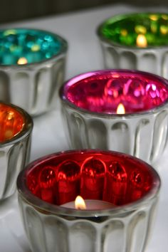 colorful mercury glass