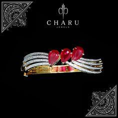 #Fusion #jewelery #Charu #jewels #designer #real #diamond #jewelery #Ruby