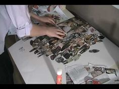 Student fashion moodboard timelapse - how to make a fashion collage board