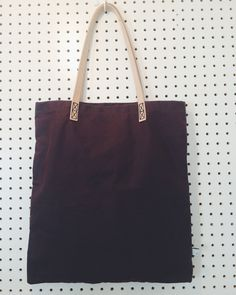 Wax Cotton Tote shopper with Leather handles