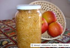 Reszelt alma Marmalade, Apple Pie, Preserves, Pickles, Cucumber, Food And Drink, Cheese, Canning, Drinks