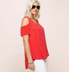 03bd961854d29 Shop the full collection of plus size tops like the Cold Shoulder Hi Lo Top  available
