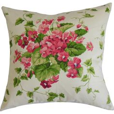 Toss this floral-print pillow on a vibrant arm chair for a look that's bright and inviting, or add it to crisp bedding for a splash of springtime in a neutra...