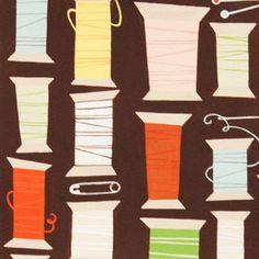 Alexander Henry House Designer - Sew Retro - Cool Spool in Chocolate