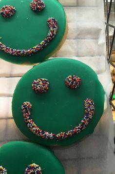 Seventies' Flashback! -- Smiley Face Cookies at Schat's Bakery Downtown Ukiah, California Zippertravel.com Digital Edition