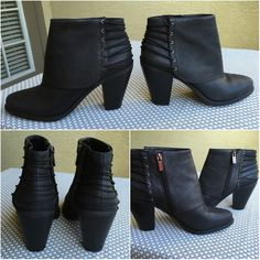 """SALE: [HP] Black Leather Jessica Simpson Booties [HOST PICK: 6/5/2016 