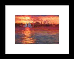 Sailboatsunset Framed Print By Alice Gipson