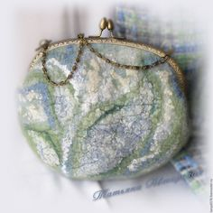 """Купить Валяная сумочка""""Мама"""" - мятный, абстрактный, сумка ручной работы, валяние из шерсти, валяная сумка"""