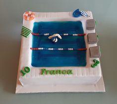 Eine Schwimmer-Torte zum 10. Geburtstag...