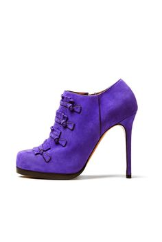 fall 2012, Tabitha Simmons, shoes, high heels, boots + booties, platforms, purple
