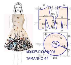 Free 50's 60's style dress pattern. I used Google to translate so there is a few interestingly written sentences :D