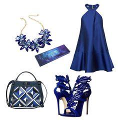 """Blue Beauty"" by beautybonanz on Polyvore featuring Kate Spade, Fendi, Paper London and Giuseppe Zanotti"